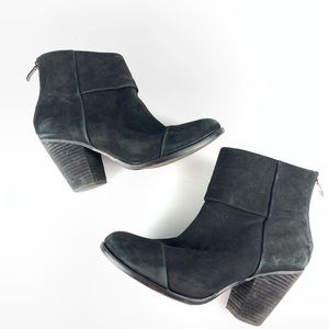 Vince Camuto Black Leather Hadley Ankle Boots 8